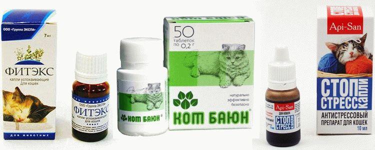 успокаивающие средства для кошек
