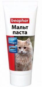 очищение кишечника кошки мальтпастой