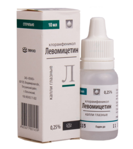 Левомицитин капли для глаз