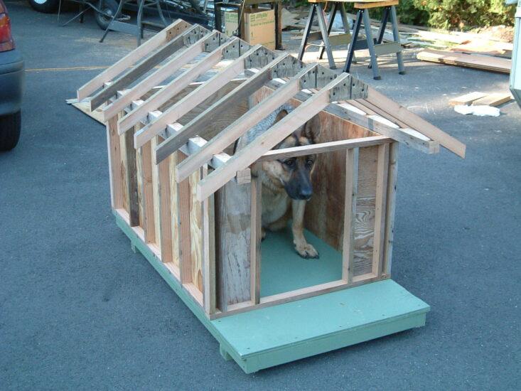 как сделать крышу для будки собаки